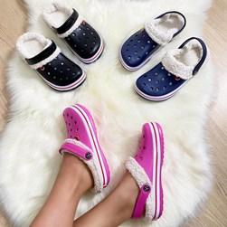 Babuche Com Pelo Unissex Pantufa Macia Leve E Confortável com Alça Pink