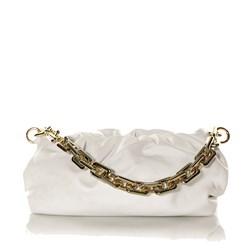 Bolsa Feminina Corrente Dourada Grossa Transversal Luxo Lançamento Blogueira Off White