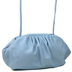 Bolsa Feminina Pequena em Napa com Alça Fina Azul Claro