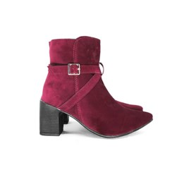 Bota Coturno Cromic Bordo