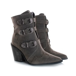Bota Feminina Country Texana Cinza