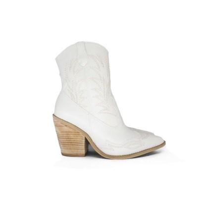 Bota Feminina Country Texana Off White