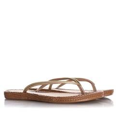 Chinelo Flat Lena Confort Texturizado Caramelo