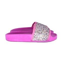 Chinelo Infantil Feminino Slide Glitter Moda Infantil Pink