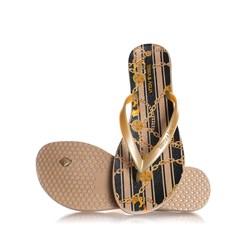 Chinelo Lais Flat Feminino Moda Verão Dourado