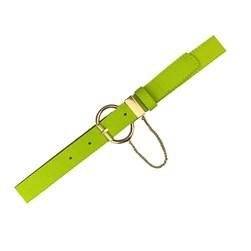Cinto Feminino com Corrente na Fivela Neon Color Verde Lemon