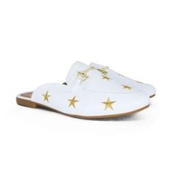 Mule Estrela Luxe Branco