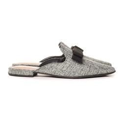 Mule Feminino Sapatos Fashion com Laço Confortável  Juta