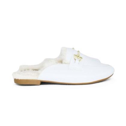 Mule Pelo Luxe Branco