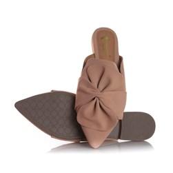 Mule Sapatilha Fashion Eunice com Bico Fino Nude