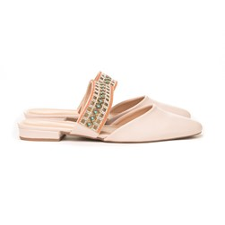 Mule Strass Luxe Off White