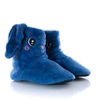 Pantufa Botinha Confortavel Ovelha Fofa Azul