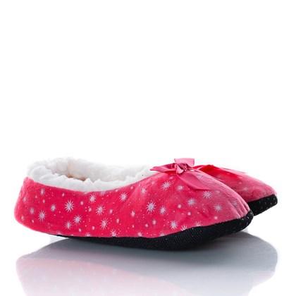 Pantufa Confortavel Lacinho Super Macia Rosa Claro