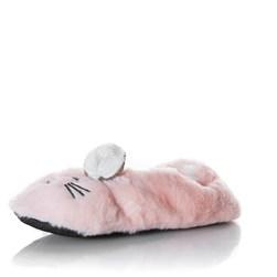 Pantufa Confortavel Macia Gato Feliz Rosa