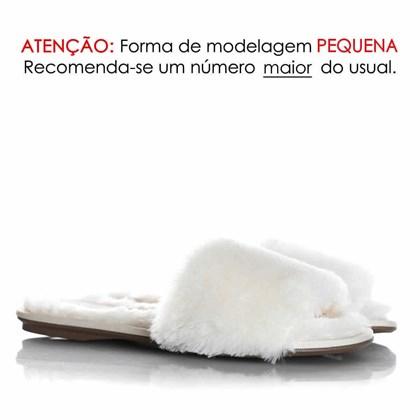 Pantufa Dream Estela Comfy com Pelinhos Branco