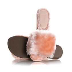 Pantufa Dream Estela Comfy com Pelinhos Rose
