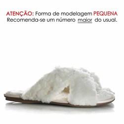 Pantufa Dream Luana Comfy em X Branco