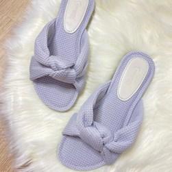 Pantufa Homewear Solange Comfy com Nó Cinza
