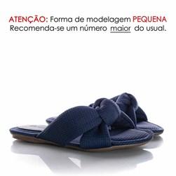 Pantufa Homewear Solange Comfy com Nó Marinho