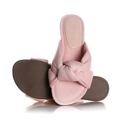 Pantufa Homewear Solange Comfy com Nó Rosa