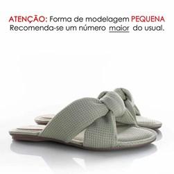 Pantufa Homewear Solange Comfy com Nó Verde Agua