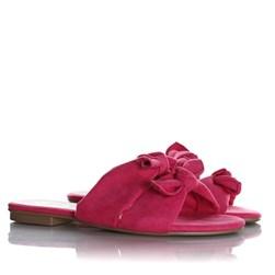 Rasteirinha Alice com Duas Tiras e Laços Pink
