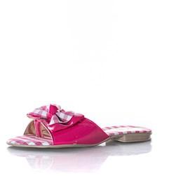 Rasteirinha Infantil Feminina Xadrez Com Laço Moda Menina Pink