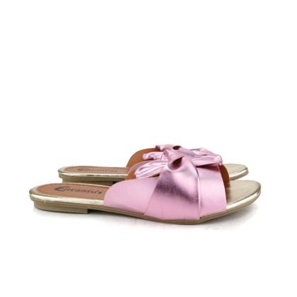 Rasteirinha Slide com Laço em Cima Rosa
