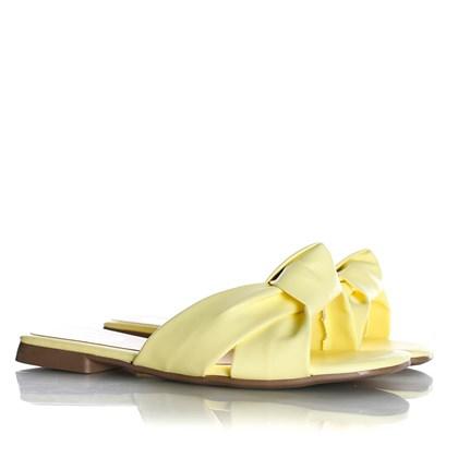 Rasteirinha Slide Julia Candy Color com Nó  Amarelo