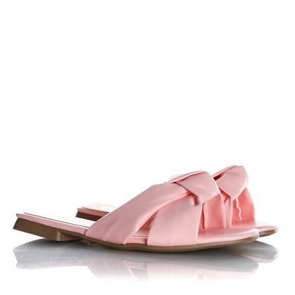 Rasteirinha Slide Julia Candy Color com Nó  Rosa