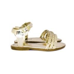 Sandalia 3 Tiras Carrossel Ouro