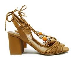 Sandalia Amarração Luxe Pele