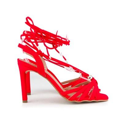 Sandália De Amarrar Feminina Salto Alto Lançamento Barato  Ferrari
