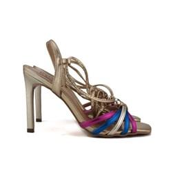 Sandália De Amarrar Feminina Salto Alto Lançamento Barato  Pink/Azul