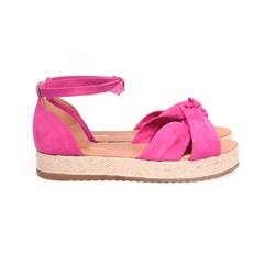 Sandalia Feminina Flatform Sola Alta Com Corda Original Pink