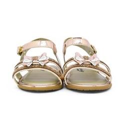 Sandalia Infantil Feminina Bebe C/ Laço Moda Menina Promoção Cobre