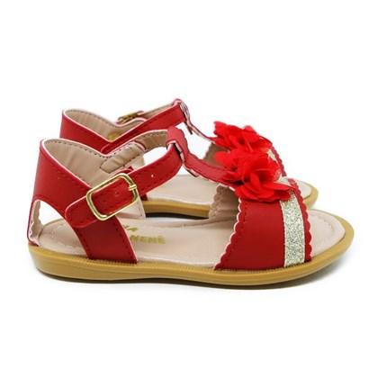 Sandalia Infantil Feminina Bebe C/ Laço Moda Menina Promoção Vermelho