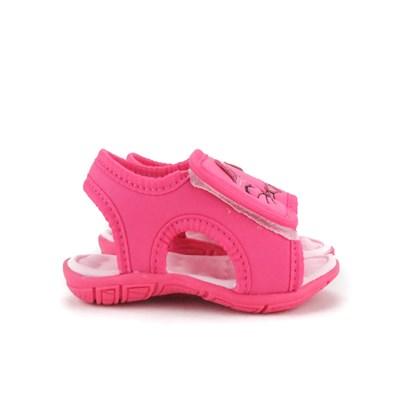 Sandalia Infantil Feminina Gatinha De Velcro Moda Menina Pink