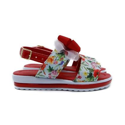 Sandalia Infantil Feminina Moda Menina lançamento Floral