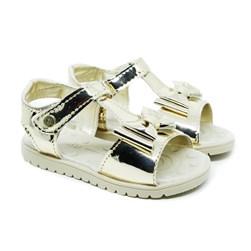 Sandalia Infantil Feminina Velcro Bebe Moda Menina Promoção Ouro Light