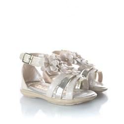 Sandalia Infantil Florida Glitter Marfim