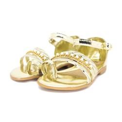 Sandália Infantil Lalilu Com Pérola  Ouro