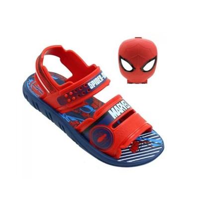 Sandália Infantil Masculina Marvel Spider Man  Vermelho