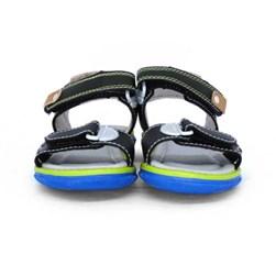 Sandália Infantil Masculina Papete Menino Com Velcro Oferta Preto