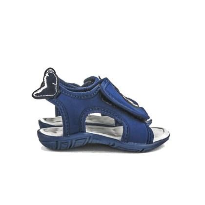 Sandalia Infantil Masculina Tubarão De Velcro Moda Menino Marinho