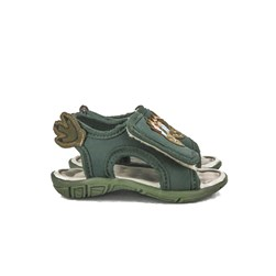 Sandalia Infantil Menino Papete Com Velcro Crocodilo Oferta  Verde Militar