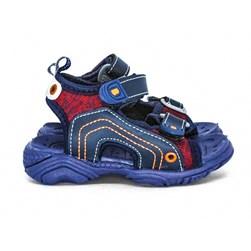 Sandália Infantil  Papete Menino Kids Confort Com Velcro  Marinho