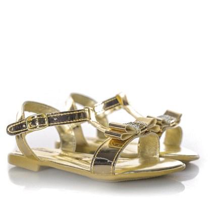 Sandalia Laço Lalilu Ouro