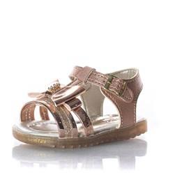 Sandalia Laço Metalizado Bronze