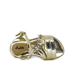 Sandalia Lalilu Metalizada Ouro